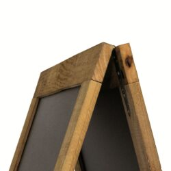 Nabídková stojanová rustikální tabule SANDWICH 131 x 72 cm, tmavě hnědá(SBS-N-135)