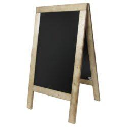 Nabídková stojanová rustikální tabule SANDWICH 135 x 72 cm, přírodní barva(SBS-N-135)