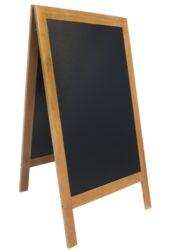Nabídková stojanová tabule SANDWICH 120x70 cm, teak