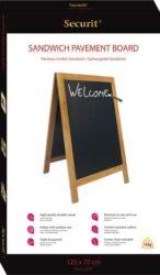 Nabídková stojanová tabule SANDWICH 120x70 cm, teak(SBS-TE-120)