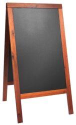 Nabídková stojanová tabule WOODY SANDWICH 125x70 cm,mahagon