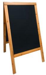 Nabídková stojanová tabule WOODY SANDWICH 125x70 cm, teak