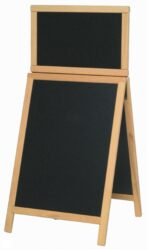 Nabídková stojanová tabule DUPLO TOP SANDWICH 120x55 cm, přírodní dřevo