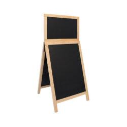 Nabídková stojanová tabule DUPLO TOP SANDWICH 120x55 cm, přírodní dřevo(SDT-B-120)