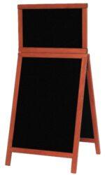 Nabídková stojanová tabule DUPLO TOP SANDWICH 120x55 cm, mahagon