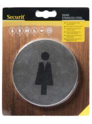 Sada lepících kulatých informačních kovových tabulek(SI-SS-SET)
