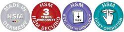 HSM SECURIO P40i 0,78x11 mm Skartovací stroj   s detektorem kovů(SK0088I)