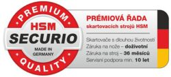 HSM SECURIO P44i 3,9x40 mm Skartovací stroj s CD vstupem(SK0094I)