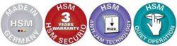 HSM SECURIO P44i 1x5 mm Skartovací stroj s OMDD mechanikou na CD(SK0099i)