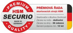 HSM SECURIO C14 4x25 mm Skartovací stroj(SK0992)