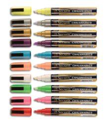 Sada 8 středních popisovačů, šířka hrotu 2-6 mm, různé barvy(SMA510-V8)