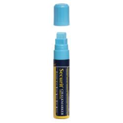 Silný popisovač, šířka hrotu 7-15 mm, modrá