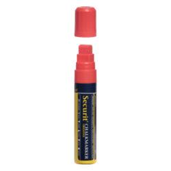 Silný popisovač, šířka hrotu 7-15 mm, červená