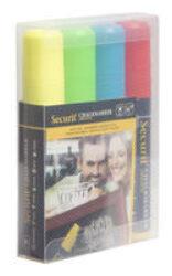 Sada 4 silných popisovačů, šířka hrotu 7-15 mm, červená, modrá, žlutá, zelená(SMA720-V4)