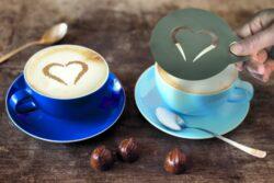 Nerezové oboustranné šablony pro zdobení kávy, 2 kusy(STN-SS-CO)