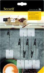 Akrylátové stojánky na tabulky TAG s krokodýlem, 6 ks(TAG-HLD-AC)