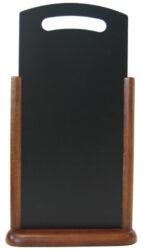 Stolná popisovací tabulka s madlem 21x45 cm, tmavě hnědá