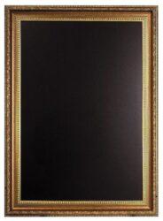 Nástěnná popisovací tabule GOLD 75x100 cm, zlatý ozdobný rám