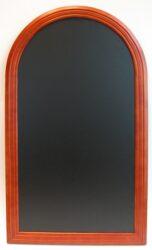 Nástěnná popisovací tabule RONDO 60x105 cm, mahagon - doprodej