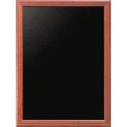 Nástěnná popisovací tabule UNIVERSAL, 60x80 cm, mahagon