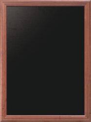 Nástěnná popisovací tabule UNIVERSAL, 80x100 cm, mahagon