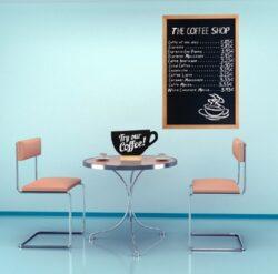Nástěnná popisovací tabule WOODY s popisovačem, 60x80 cm, černá(WBW-BL-60-80)