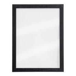 Nást.tab.se skleněnou oboustr.popis.plochou,černý rám,1xbílý+1xčerný popis.40x30