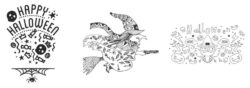 Šablony na sklo 42x59,4 cm HALOWEEN(WD-3A2-HL)