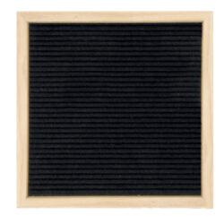 Nasouvací tabulka 30x30cm s dřevěným rámečkem a 360 plast.písmeny,čísly a symb.